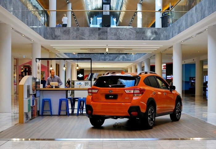 Subaru 'do' pops up in-store